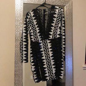 Sexy high split dress